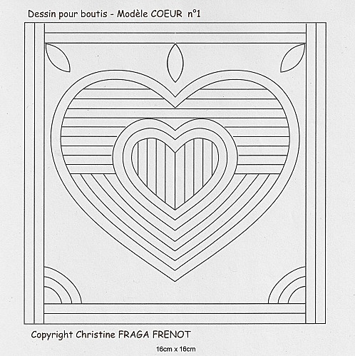 Boutis heart pattern
