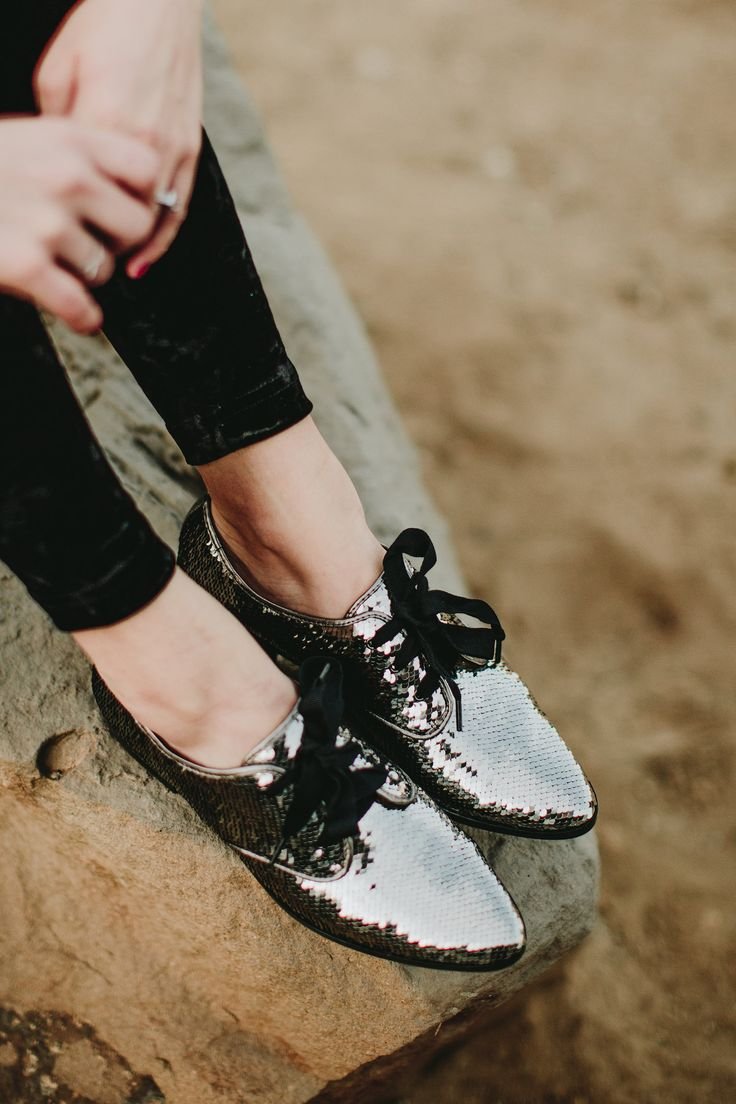 Sequined oxfords // glitter shoes