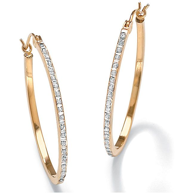 Slip These Pretty Diamond Hoop Earrings Into Your Ears To Instantly Update Look The