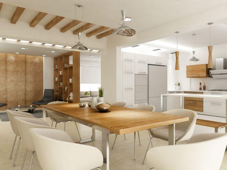 Villa Tasarımı Salon-Mutfak Tasarımı