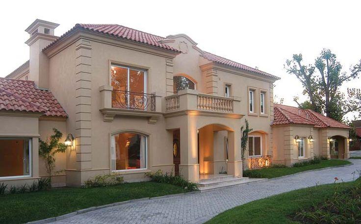 Casas neoclasicas architecture pinterest fachadas for Diseno de entradas principales de casas