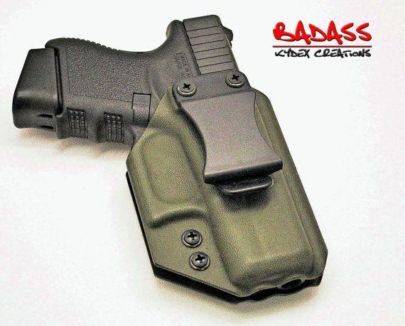 Glock 36 | IWB Kydex Holster | Straight Draw | Olive Drab| Adjustable Retention | Full Sweat Shield