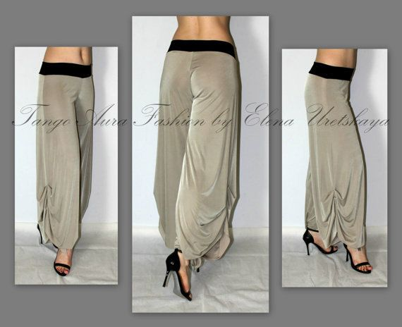 Hermoso Tango Stretch Beige pantalones