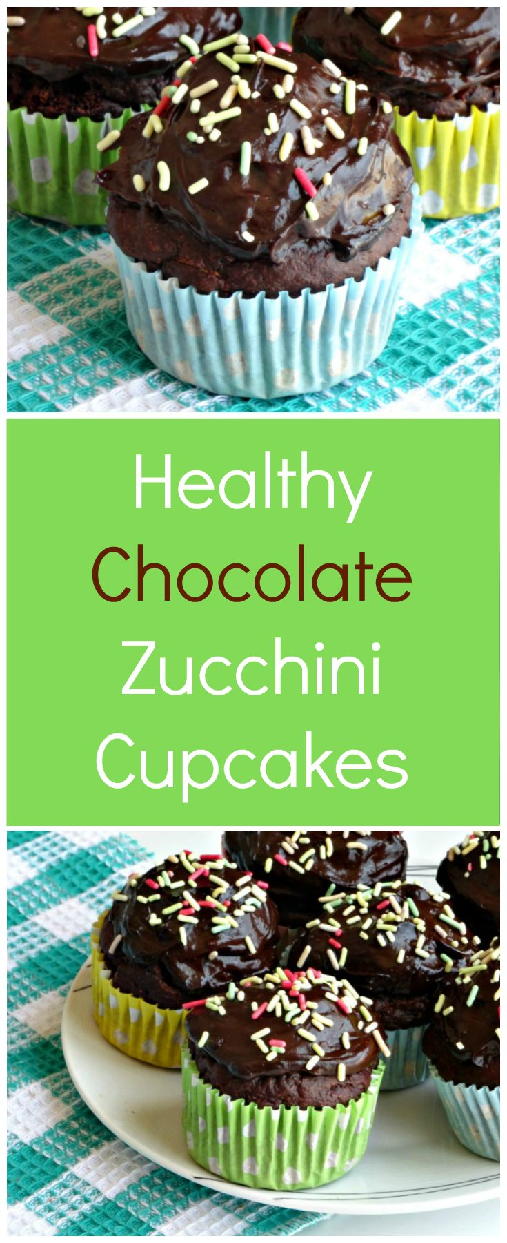 Healthy Chocolate Zucchini Cupcakes Recipe | These are the most moist chocolate zucchini cupcakes ever! They're ideal for baking with kids and taste so great you'd never, ever believe they're healthy - but they are!