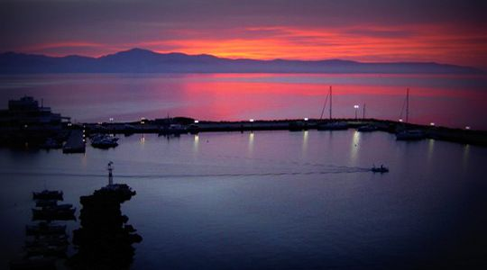 When the sun sets the atmosphere becomes pink-coloured in Piso Livadi... http://blog.aloniparos.com/2013/05/enjoy-piso-livadi.html