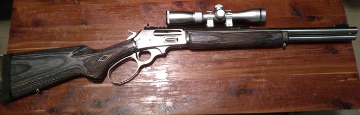 Marlin 1895SBL in 45-70, scout scope.. I have my eyes on 1 and I haven't decided if this 1 or a Browning 308