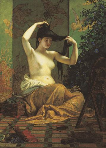 Székely, Bertalan | Japanese Woman |  1871 | Oil , Canvas  169,5 x 120,5 cm…