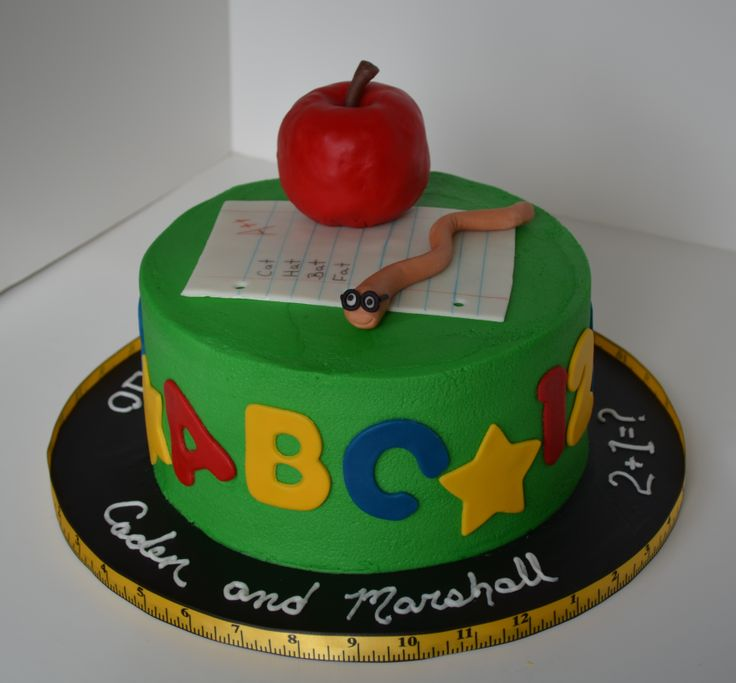 Cake Designs For Teachers : 1000+ images about Teacher cakes on Pinterest Preschool ...