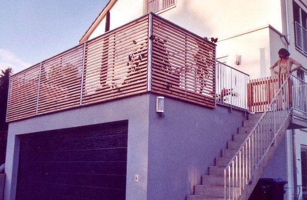 Balkongeländer,Stahl - Holz(SH 1)Knor-Treppen