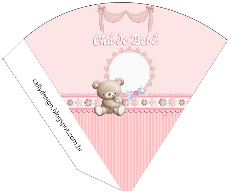 CALLY'S  DESIGN-Kits Personalizados Gratuitos: Chá de Bebê Ursinha Rosa e Lembrancinhas de Matern...