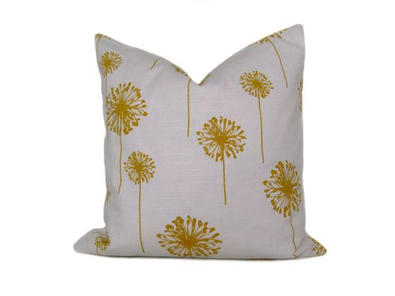 Yellow Decorative Pillow  ONE 12x16  Yellow by eastandnest on Etsy, $15.00