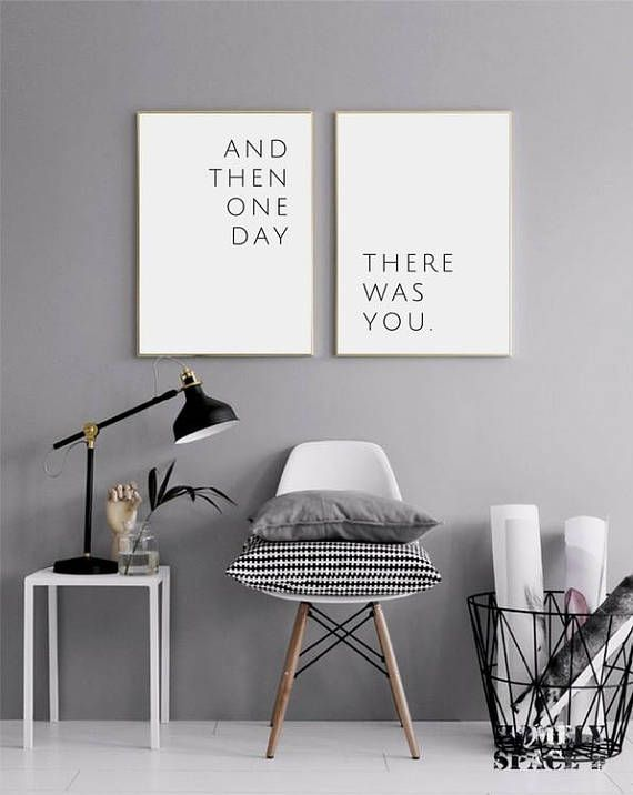 And Then One Day There Was You Poster Love Quote Quotes Print