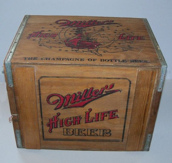 RARE Miller High Life Beer Wooden Crate Miller by ManchVegasTiques, $98.00