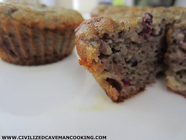 Blackberry Banana Muffins...(baking note: add extra Tbsp of coconut ...