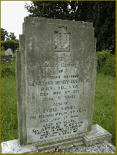 """Rostron's Grave marker. It reads: Sir Arthur Henry Rostron, KBE, RD, RNR """" Captain of RMS Carpathia.Saved 706 souls    from SS Titanic, 15 April 1912."""" (Photo property of Gary Bown, UK)"""