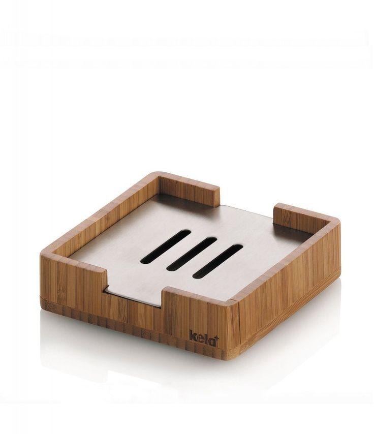 Miska na mýdlo z elegantní řady koupelnových doplňků BAMBUS. Přírodní krása ve spojení s leskem nerezové oceli jistě skvěle doplní vaši koupelnu. Praktická mýdlenka, která najde využití v čím dál tím více domácností.