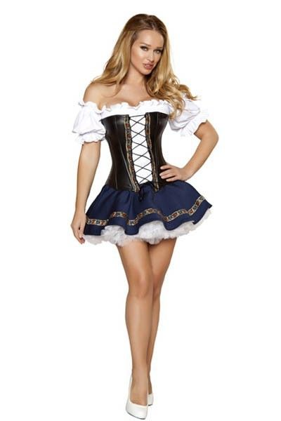 White Off Shoulder Corset Front German Beer Maiden Costume - http://rolandosgiftshop.com/products/white-off-shoulder-corset-front-german-women-beer-maiden-costume-pink-germany-beer-girl-costume-oktoberfest-costume-l1354/