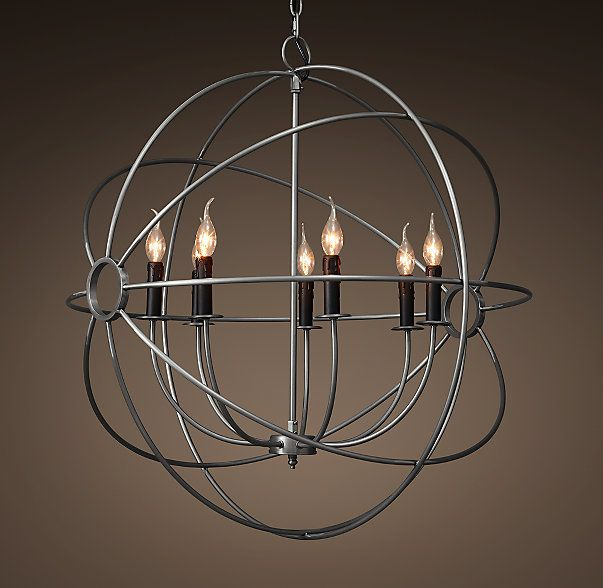 Restoration Hardware Light Fixture Sale: Foucault's Orb Chandelier 32""