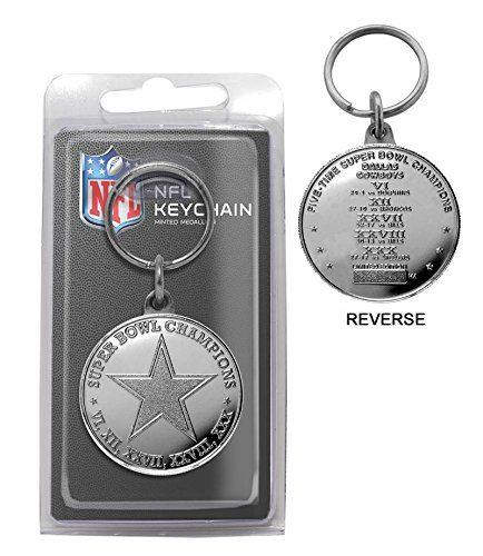 NFL Dallas Cowboys 5Time Super Bowl Champions Minted Coin Keychain *** Want additional info? Click on the image.