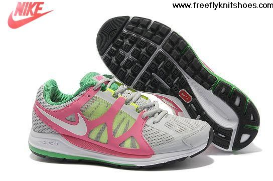 Buy New Nike Zoom Elite 5 Womens Running Shoes Pure Platinum White-Pink-Volt-Lucky Green Your Best Choice