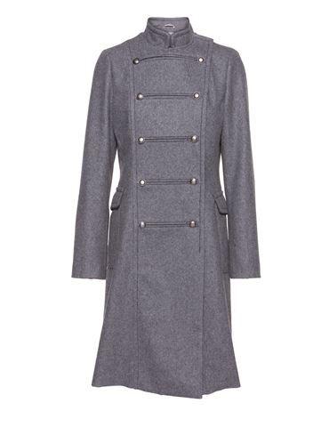 Uniform jacket in wool - Grey - noanoa