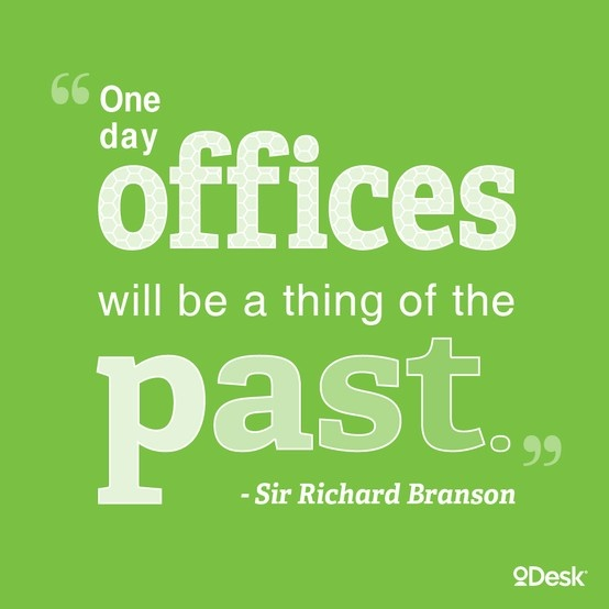 Quote from Sir Richard Branson on the future of work.