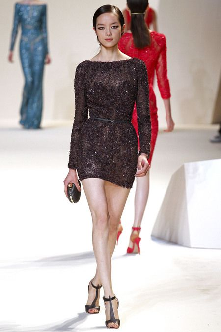 Spring 2013 Ready-To Wear black minidress by Elie Saab