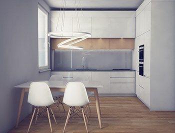 Kuchnie - Średnia otwarta kuchnia w kształcie litery l w aneksie, styl skandynawski - zdjęcie od Manufaktura