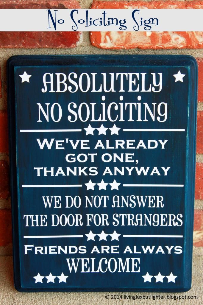 17 best ideas about soliciting signs on pinterest no - Funny soliciting signs ...