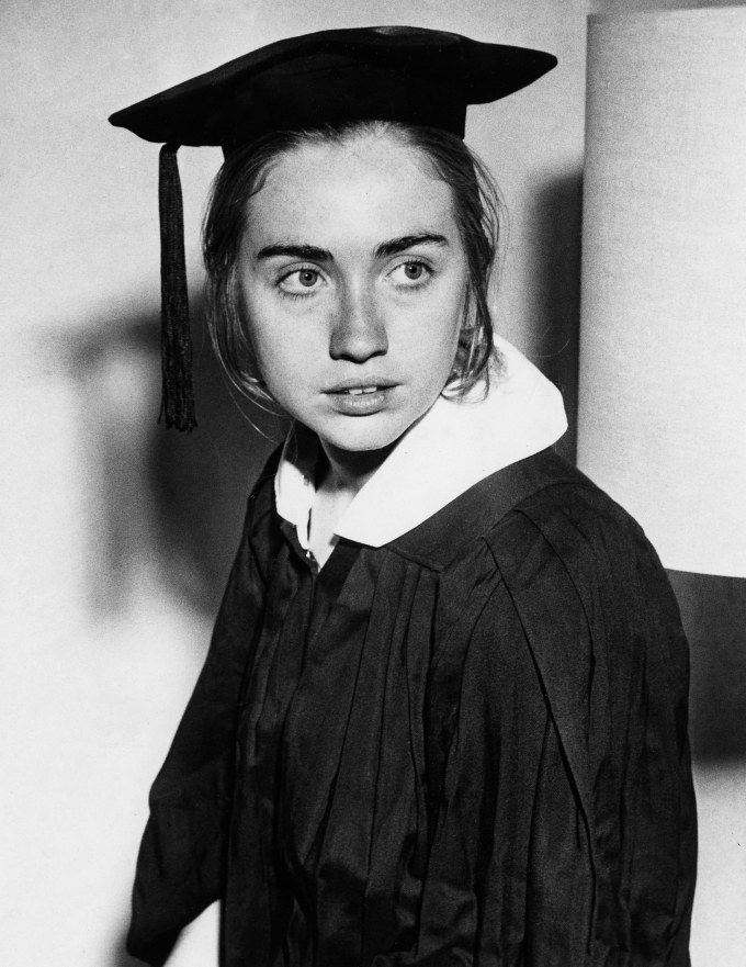 """21-year-old Hillary Rodham, Wellesley College (1969) """"We are, all of us, exploring a world that none of us even understands and attempting to create within that uncertainty,"""" @ https://www.brainpickings.org/2016/11/07/hillary-clinton-wellesley-speech/"""