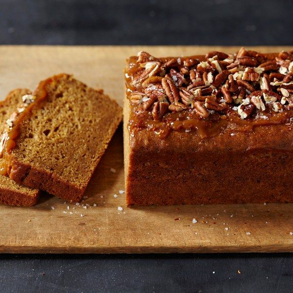 sweet potato bread with caramel and aleppo spiced pecans sweet potato ...