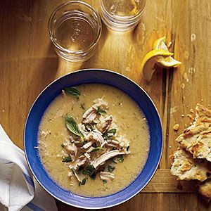 """A Greek soup called Avgolemono...traditionally know for its healing properties of the common cold...""""chicken soup with lemon egg sauce"""""""