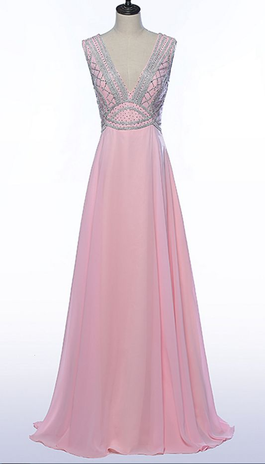 A formal party crystal pearl dress open-air party dress festival dress pink attractive PROM dress