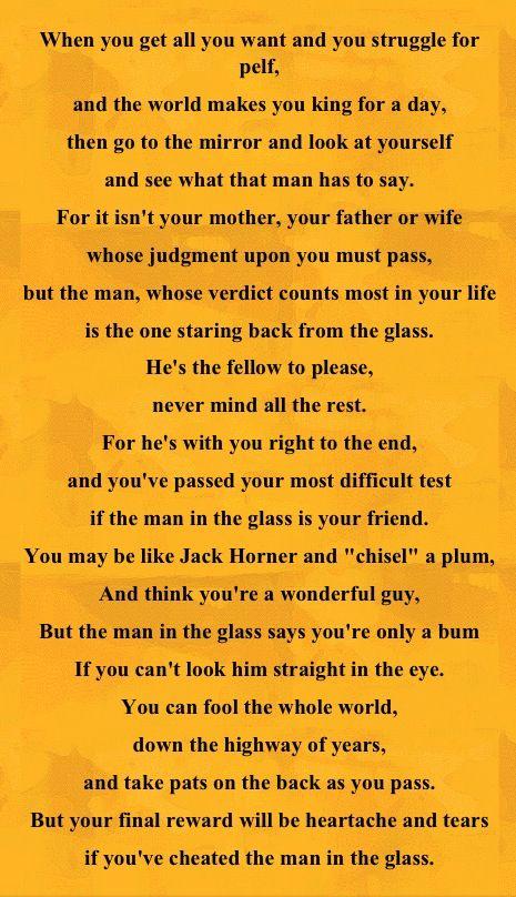 Man In The Mirror Poem 116