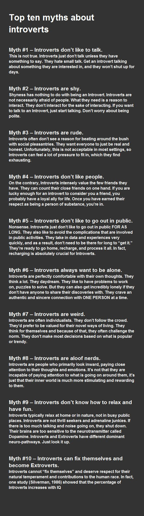 I wish Jim Jenna and everyone of my friends could read this and really understand what it's like to be and introvert.