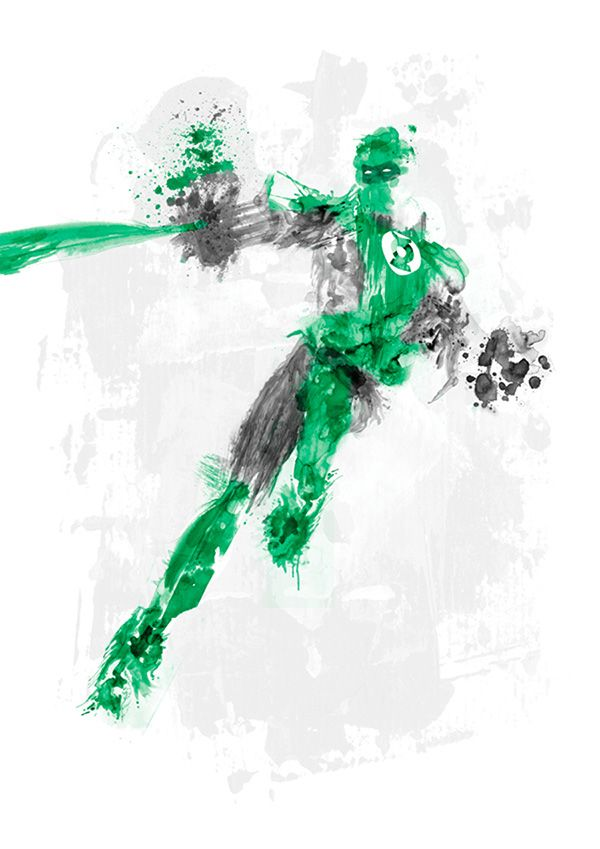 Paint Splatters - Green Lantern