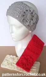Free crochet pattern for ear warmer headband http://www.patternsforcrochet.co.uk/headband-usa.html #patternsforcrochet #freecrochetpatterns