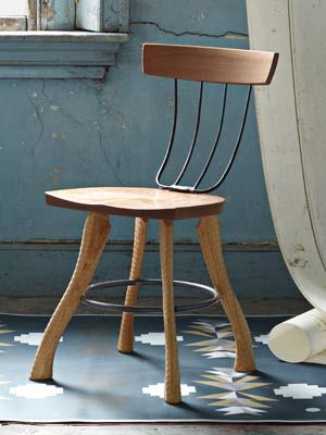 so creative and beautiful lines on this piece  Bradford Woodworking Pitchfork Chair