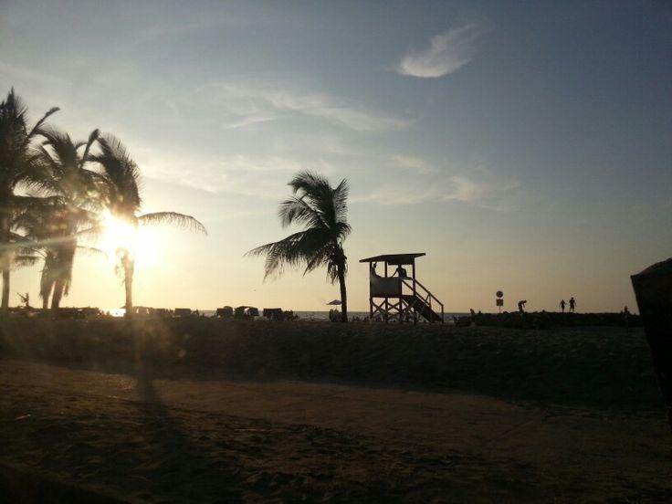 Playa Cartagena de Indias. Colombia.