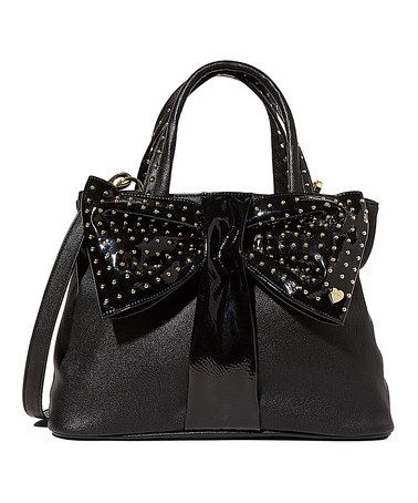 Look what I found on #zulily! Black Bow Tie Shopper Satchel #zulilyfinds