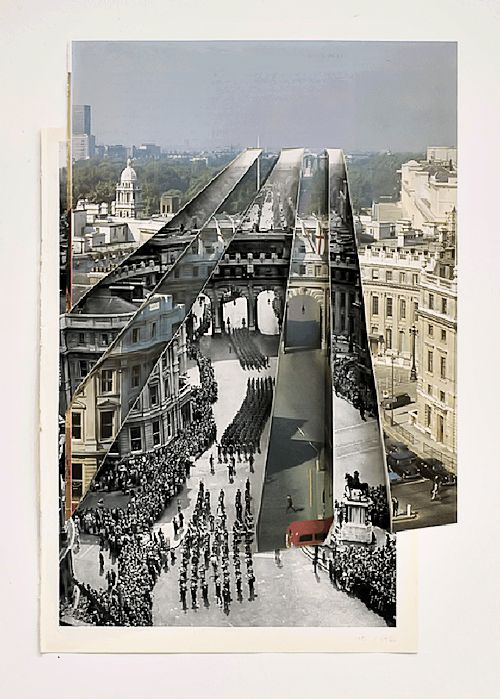Admiralty Arch, 2010, cut & folded vintage book plates, 39.8 x 31.5 cm by Abigail Reynolds