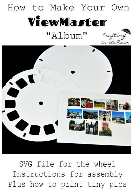 View Master SVG Free File  |  Crafting in the Rain Add your own pictures!
