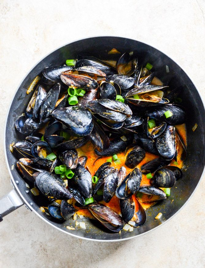 Coconut Curry Mussels. - How Sweet It Is