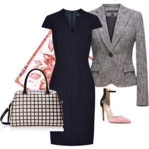 """""""Trendy Tweed Jacket with Dress for Spring"""" by lachiner-1 on Polyvore"""