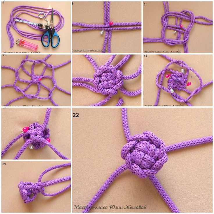 DIY Weave a Macrame Knot - try this with paracord ..j