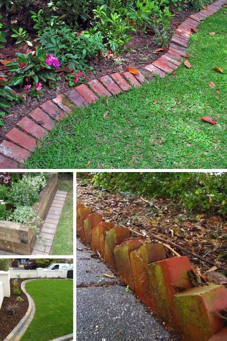 21+ Brilliant & Cheap Garden Edging Ideas With Pictures For 2020 | Patio Edging, Cheap Landscaping Ideas, Garden Edging
