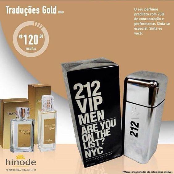 Perfume Hinode Tradução Gold  - referência olfativa 212 VIP acesse http://online.hinode.com.br/3566470