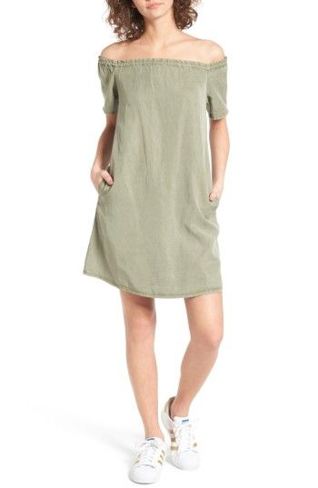Free shipping and returns on AG The Harley Off the Shoulder Dress at Nordstrom.com. Woven from incredibly soft fabric, this shoulder-baring shift cut with convenient pockets is perfectly effortless for warmer weather.