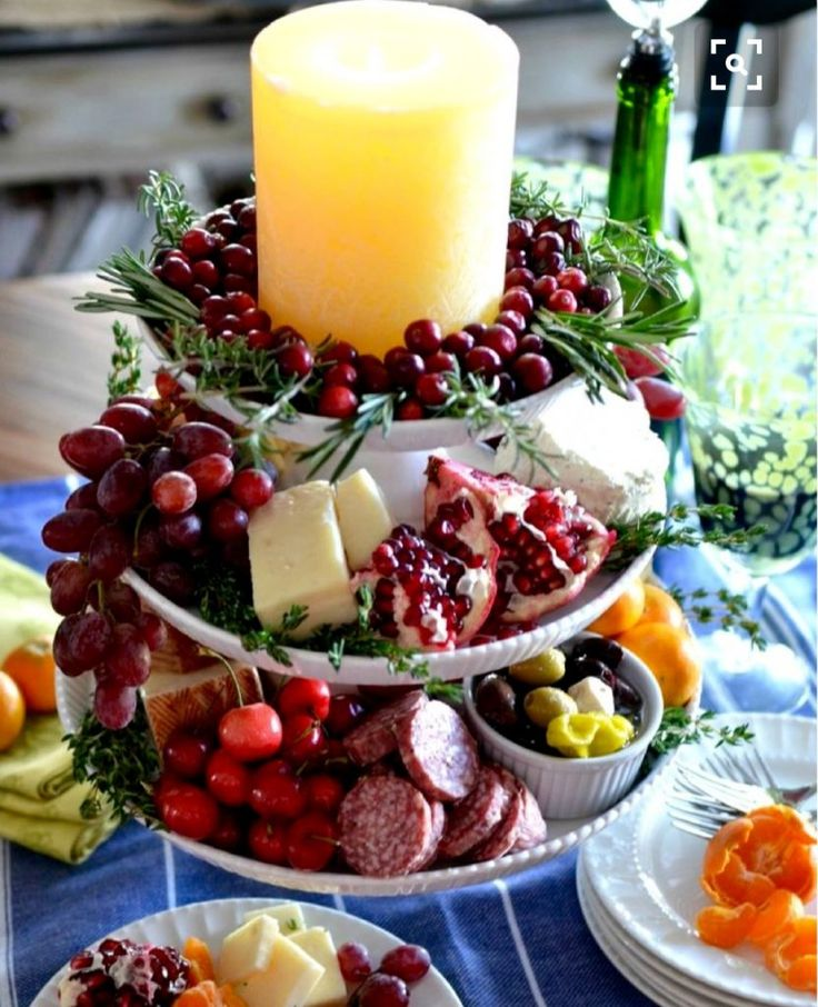 Fruit & Cheese 3-Tier Stand