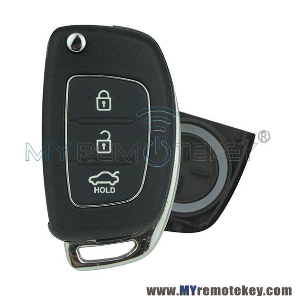 Flip Remote Key Shell Case 3 Button For Hyundai I20 I30 Ix35 Hyundai Hyundai Genesis Elantra